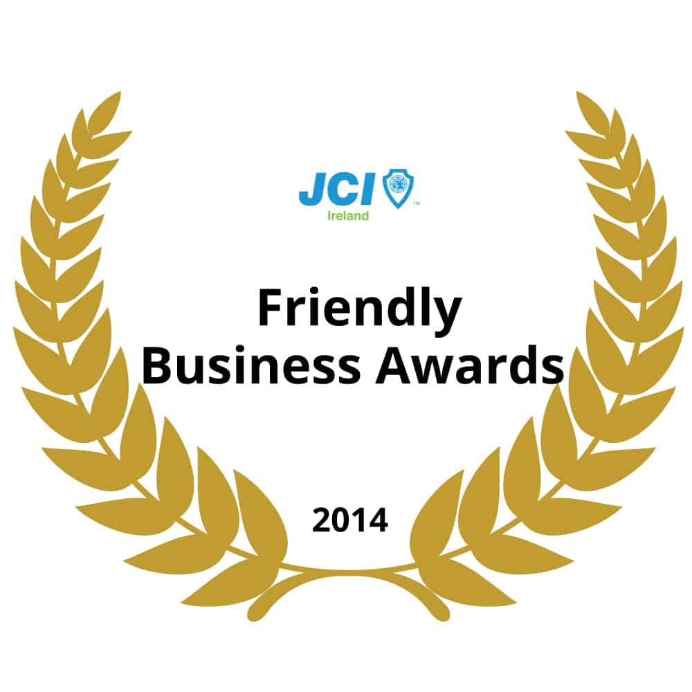 National-Winner-Ireland-JCI-Friendly-Business-Awards-2014